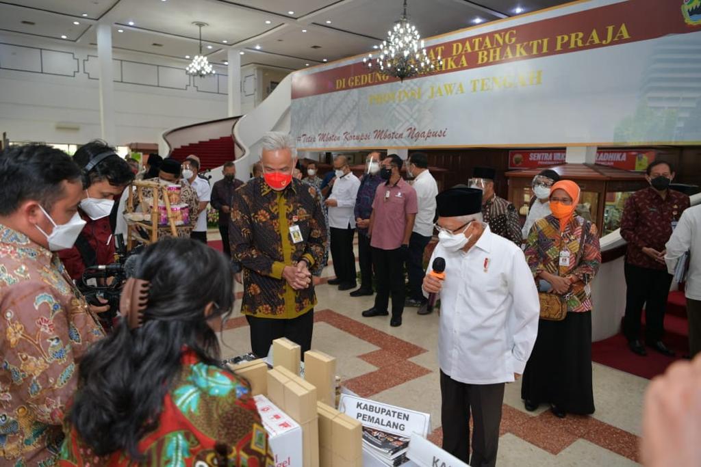 Tiba Di Jawa Tengah, Wapres Gelar Diskusi Dengan Pemda Sebagai Upaya Percepatan Kemiskinan Ekstrem 2021
